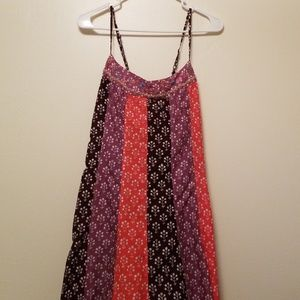 Free People Beaded Lace Up Back Boho Hippie Dress